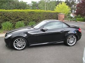 Mercedes Benz SLK 280 Automatic for sale, black with AMG spec, low mileage for age.