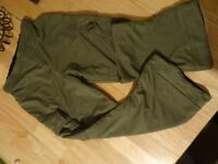 Boys Khaki Green Trousers with pockets - Age 5-7