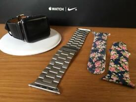 Apple Watch 42mm Series 2, immaculate with a choice of straps.
