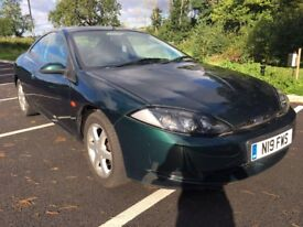 2000 FORD COUGAR 2.5 V6 24V 2 DR COUPE AUTOMATIC LOW MILEAGE THE ONLY ONE AVAILABLE IN AUTO