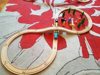 Two wooden train set