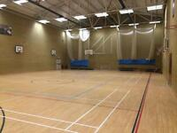 Sports halls & studios available to hire