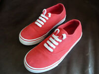 Boys M&S Red Canvas Shoes Size 2