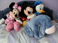 Disney Store Very Large Mickey, Minnie, Donald & Eeyore Soft Toys New With Tags