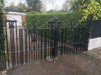 Vintage Cast Iron Driveway and Garden Gates.