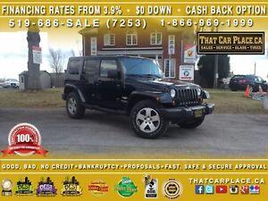 2008 Jeep Wrangler Sahara-4X4-Auto-AUX-TowHooks-Tint-Hardtop
