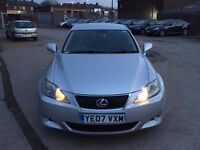 "LEXUS IS 220D 2.2 SPORT DIESEL,HPI CLEAR,PARKING SENSORS,ELECTRIC&HEATED SEAT,18"" ALLOYS,2 KEYS,AUX"