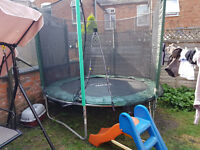 trampoline plus kids' slide
