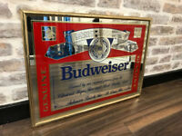 Framed Budweiser Mirror