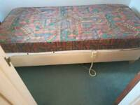 Electric single bed and mattress