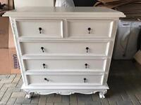French Style Shabby 2 over 3 Chic Chest of Drawers