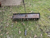 LAWN TURF SLITTER 12 BLADES FOR TOWING BEHIND RIDE ON MOWER AGRIFAB 1 METRE.
