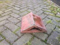 Reclaimed triangular terracotta coping stones