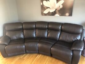 Leather corner recliner. 3 years old.