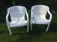 A PAIR OF ALLIBERT PATIO CHAIRS