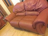 Sofa bed and 2 Seater sofa leather