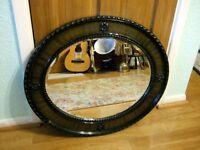 Victorian oval mantle mirror