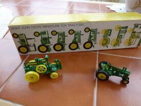 John Deere miniature tractors