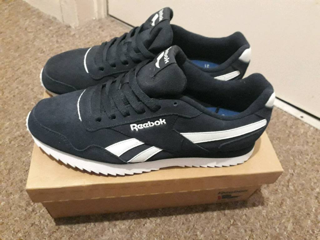 Reebok royal flag (classic style) men s size 10 navy blue  92ccd0eed