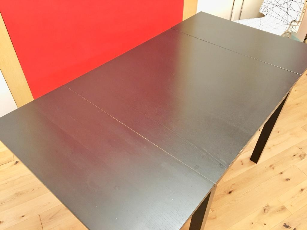 [**SOLD***] Simple wooden extendable dining table