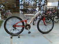 ADULTS/OLDER CHILDS FALCON APEX BIKE 26 INCH WHEELS ALUMINIUM FRAME 18 SPEED FULL SUSPENSION GOOD