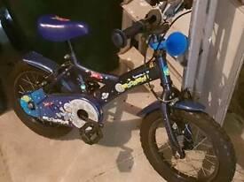 "Boys bike 14"" Wheels. Suitable age 3-6yrs."