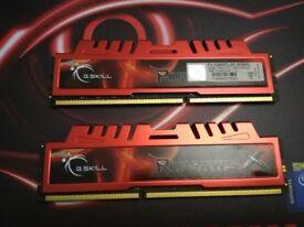8GB G.Skill Ripjaw 1600Mhz PC3-12800 CL9 DDR3 (2 x 4GB)