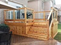 """Two pieces 60""""x36"""" Tempered Glass panels for Decks from LOWES"""