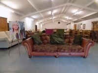 Lovely Leather & Fabric Tetrad Eastwood Grande 3-4 Seater Sofa