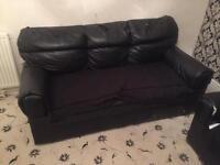 Sofa, Dining table, Gloss black glass unit