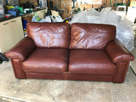 Leather Sofa - 3 seater and 2 seater Brown