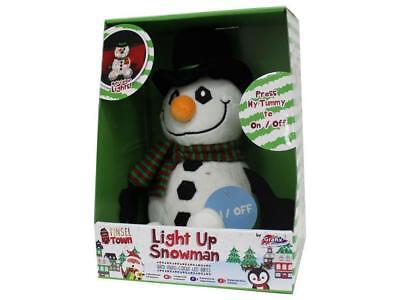 Snowman Multi-Colour LED Light Up Plush Christmas Decoration Night Light Xmas Uk - Halloween Lights Decorations Uk