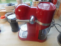 KITCHEN AID RED COFFEE MAKER Nespresso Artisan WITH BOX