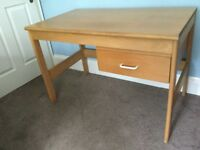 Pine Desk with Drawer H28.5in/72cm W42in/107cm D24.5in/62cm