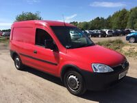 VAUXHALL COMBO 1.7 DTI RED PANAL VAN NO VAT, ALL MAJOR CARDS ACCEPTED, PX WELCOME