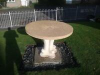 Garden table & benchx2
