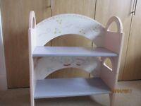 Beautiful Childrens Nursery Bookcase/Seat