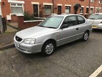 Hyundai Accent 2003, 1.3cc full year MOT low milage 52000
