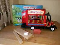 Large collection of Slyvanian families house canal boat shop car ice cream van etc