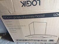 Logik Glass Chimney Cooker Hood 60cm New and Unused
