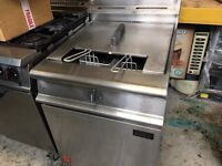 Falcon G3860 Dominator Gas Fryer with Single Pan and Twin Baskets