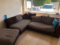 DFS Brown Corner sofa