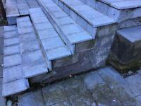 FREE: 300 x 300 x 22mm Silver-Grey Granite Paving Tiles