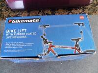 Bike storage/space-saver lifting hooks by bikemate