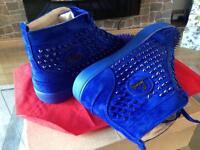 Spike hi tops blue Louboutin