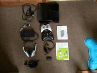 Xbox 360 slim with kinect & 18 games