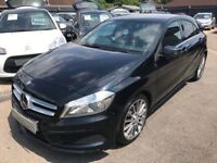 2014/64 MERCEDES-BENZ A CLASS 1.5 A180 SPORT CDI AMG SPORT 5DR BLACK,1 OWNER,LOW MILEAGE,STUNNING