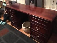 Stag mahogany dressing table-desk