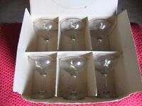 Set of 6 Babycham glasses.