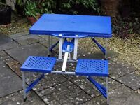 Folding Picnic table/bench set. Ideal extra seating for kids parties. Camping, days out or garden